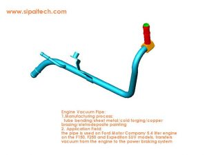 vacuum pipe for auto power braking system