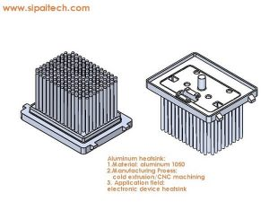 pin fin heat sink for electronic device