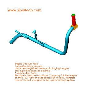 Tube bending-Engine vacuum pipe