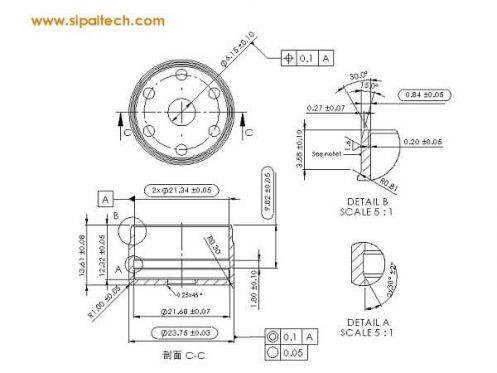 sensor cup insert-数控车加工