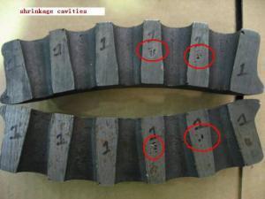 Anchor block casting porosity defect